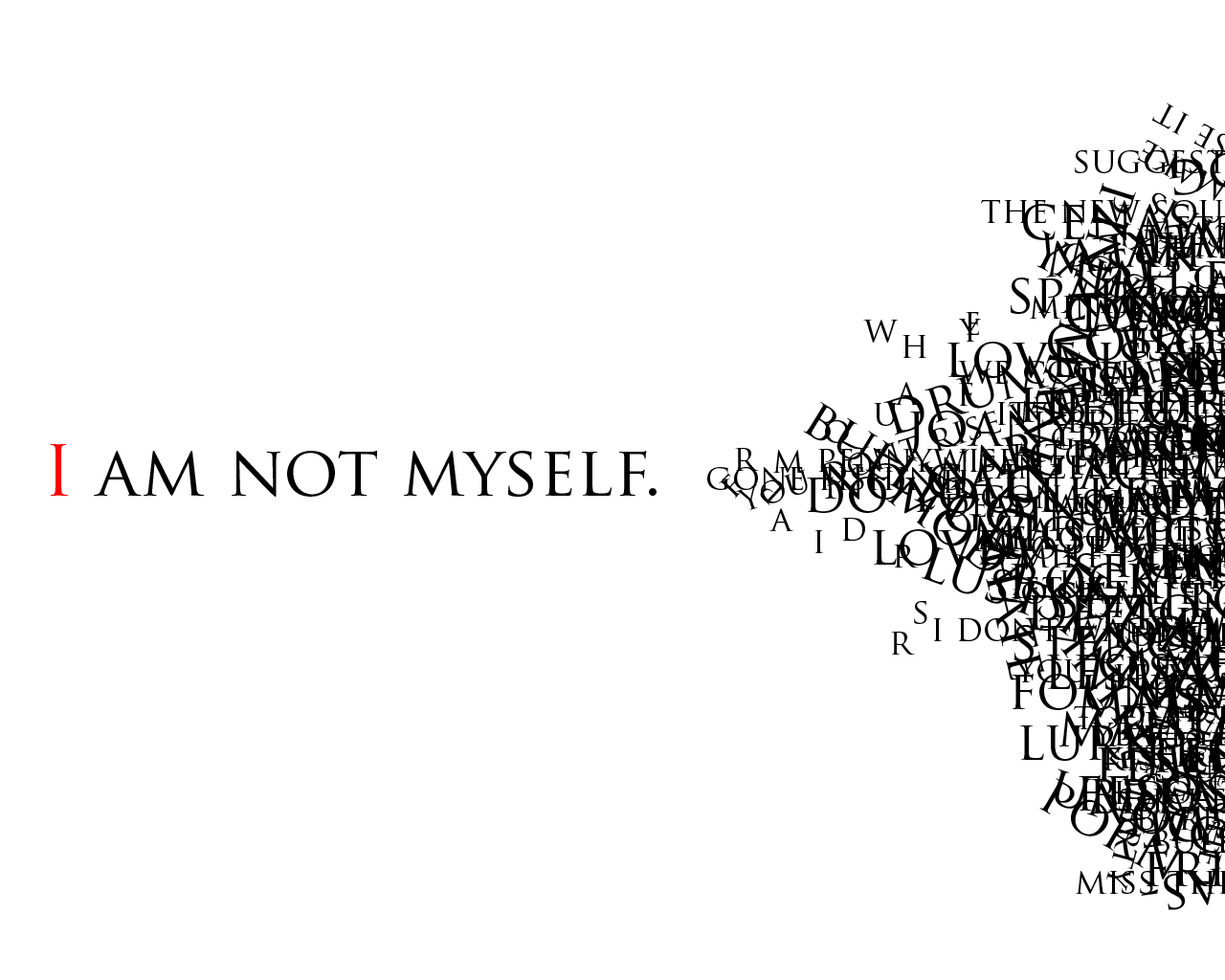 font embedding - I AM NOT MYSELF